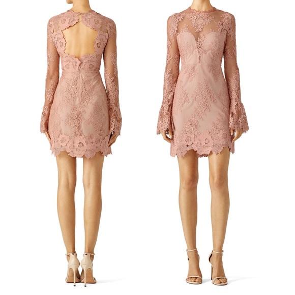 "Saylor Pink ""Leondra"" Lace Dress"